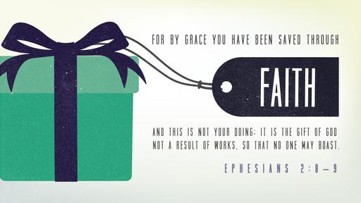 Ephesians 2:8–9 verse of the day image