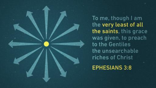 Ephesians 3:8 verse of the day image