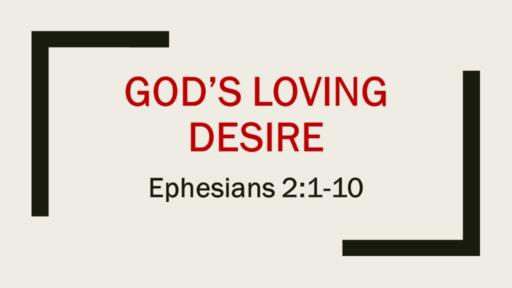 God's Loving Desire
