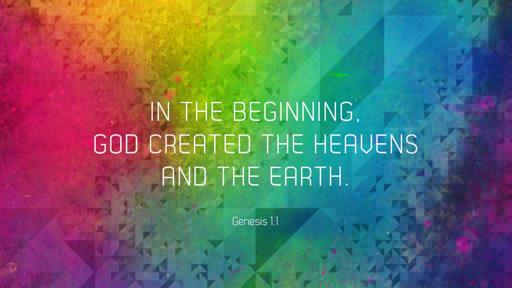 Genesis 1:1 verse of the day image