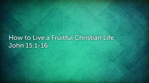 """How  To Be A Fruitful Christian"""