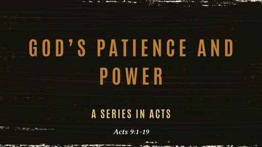 God's Patience and Power