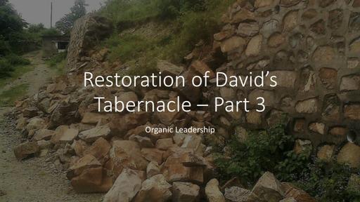 Restoration Of David's Temple Part 3