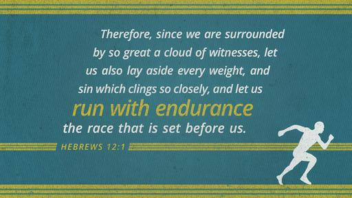 Hebrews 12:1 verse of the day image