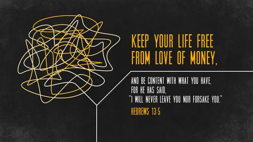 Hebrews 13:5 verse of the day image