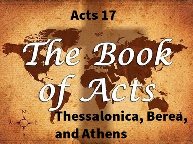 8/25/2019 - Thessalonica, Berea & Athens
