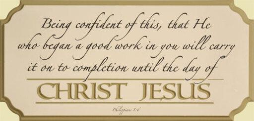 Phillipians 1:6-8 March 31st 2019