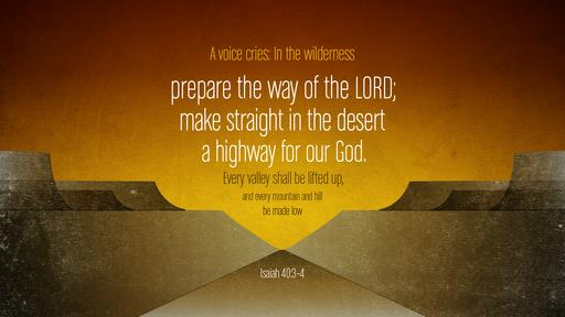 Isaiah 40:3–4 verse of the day image