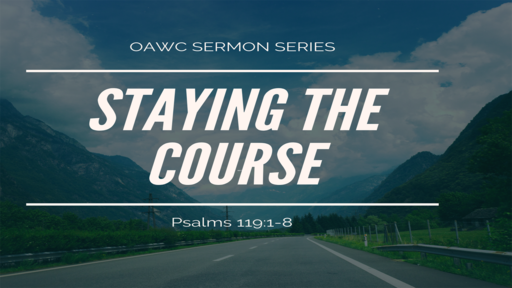 Staying the Course (Pt. 1)