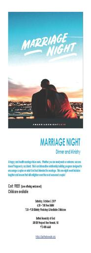 Marriage Night FLYER