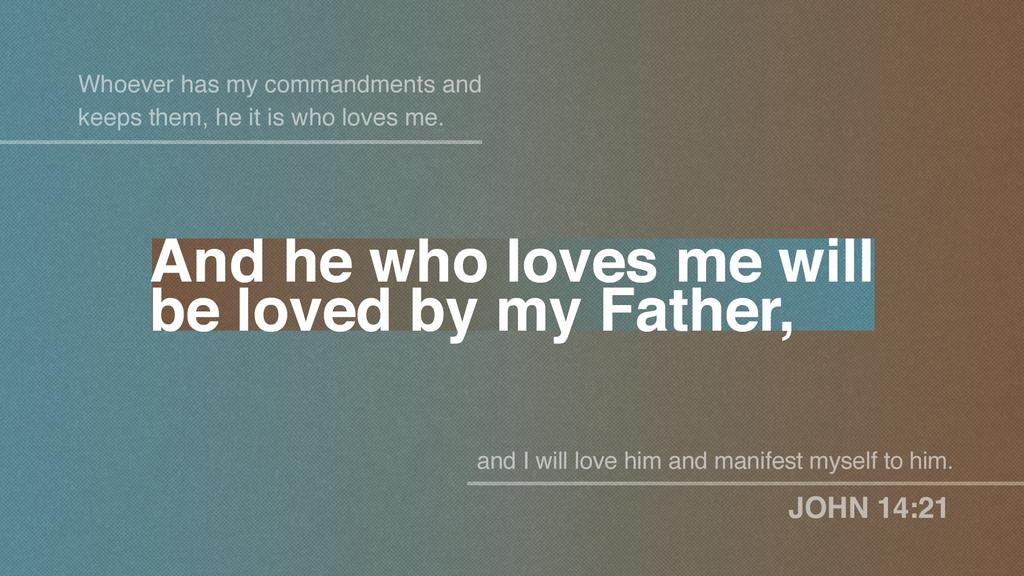 John 14:21 large preview