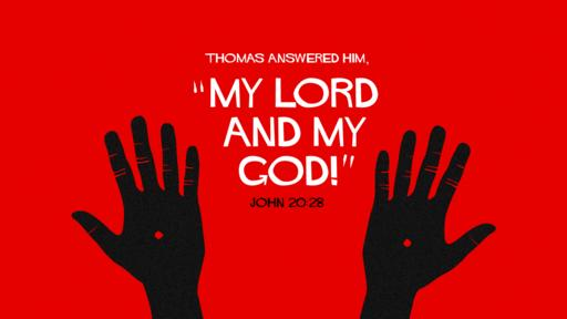 John 20:28 verse of the day image