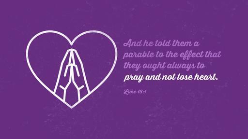 Luke 18:1 verse of the day image