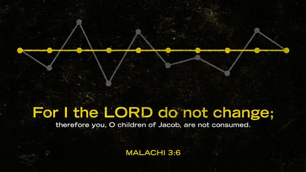 Malachi 3:6 large preview