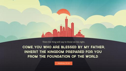 Verse of the day image for Matthew 25:34
