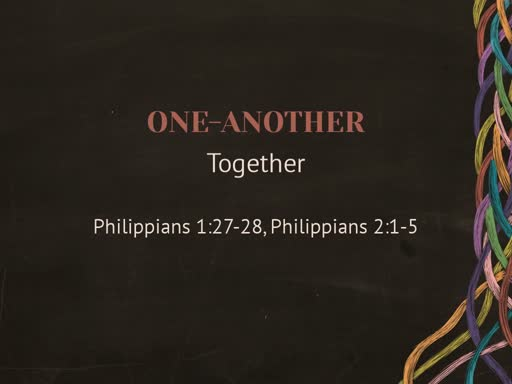 September 1, 2019 - One Another Together
