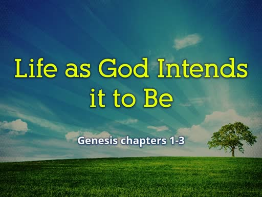 Life as God Intends it to Be