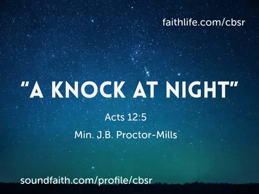 """9.01.19 """"A Knock At Midnight"""""""
