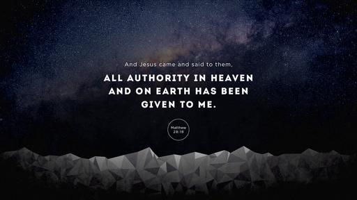 Matthew 28:18 verse of the day image