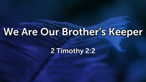 We Are Our Brother's Keeper