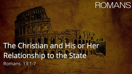 Christian and His or Her Relationship to the State
