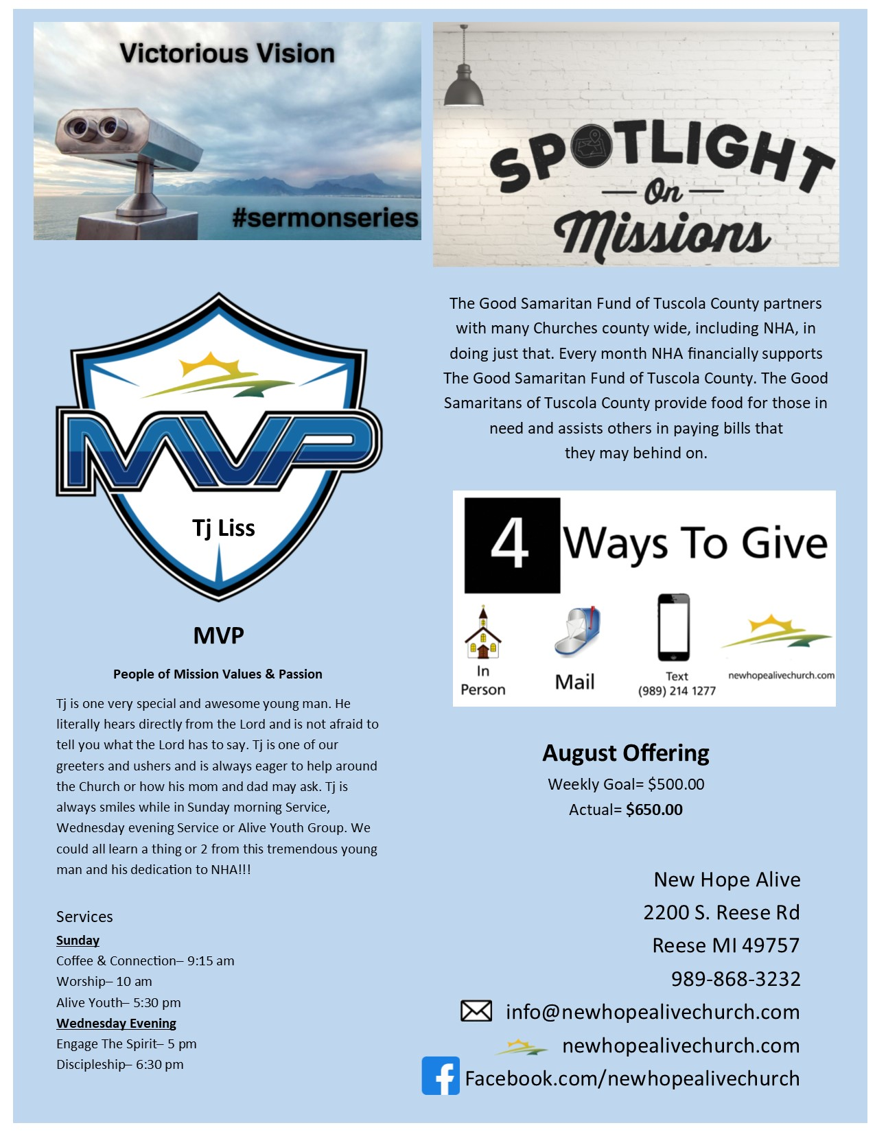 Monthly Newsletter Back 0919