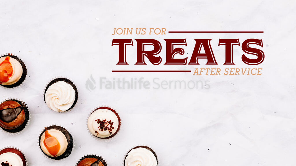 Join Us For Treats After Service large preview