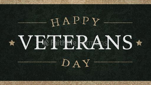 Happy Veterans Day Canvas