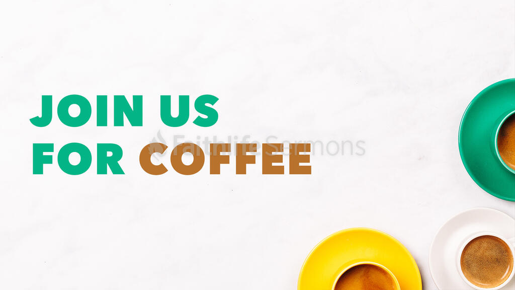 Join Us For Coffee large preview