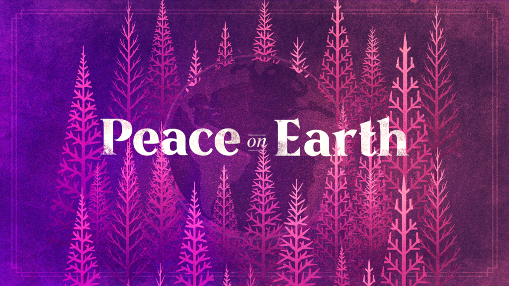Peace On Earth Purple large preview
