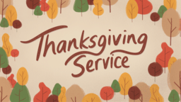 Thanksgiving Service Trees  PowerPoint Photoshop image 1