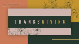 Thanksgiving Flower  PowerPoint Photoshop image 1