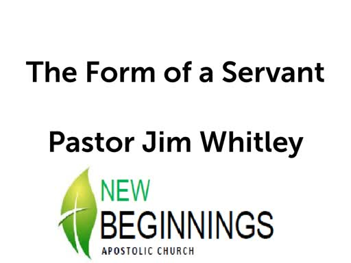 The Form of a Servant- Wed 4