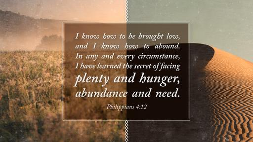 Philippians 4:12 verse of the day image