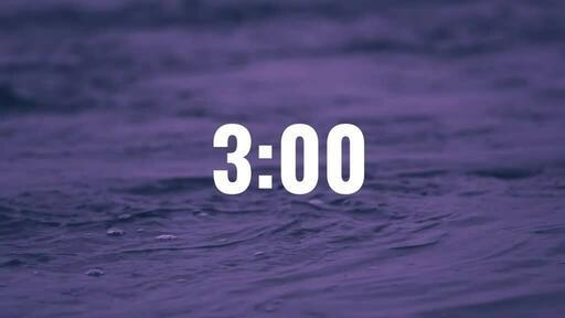 Water Stream - Countdown 3 min