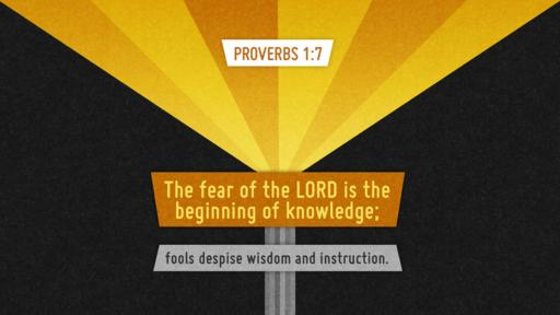 Proverbs 1:7 verse of the day image