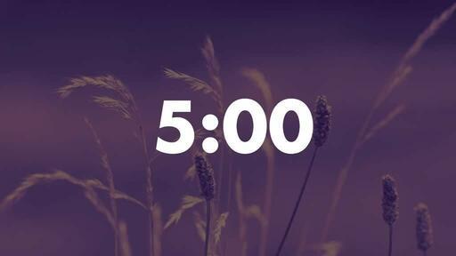 Purple Wildgrass - Countdown 5 min