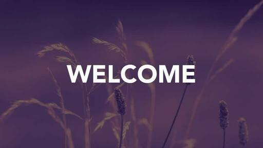 Purple Wildgrass - Welcome