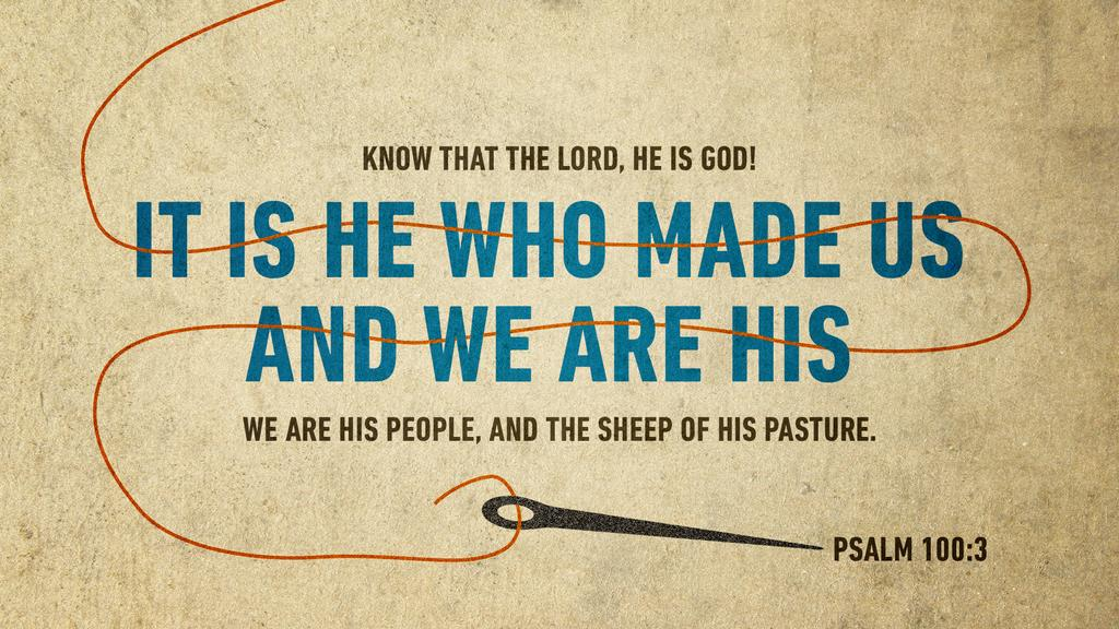 Psalm 100:3 large preview