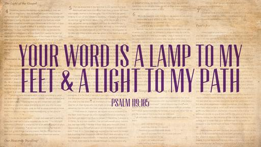 Psalm 119:105 verse of the day image