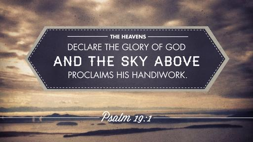 Psalm 19:1 verse of the day image