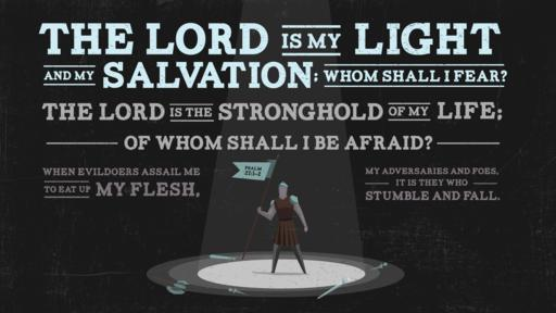 Verse of the day image for Psalm 27:1–2