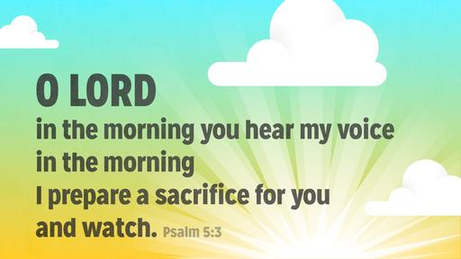 Psalm 5:3 verse of the day image