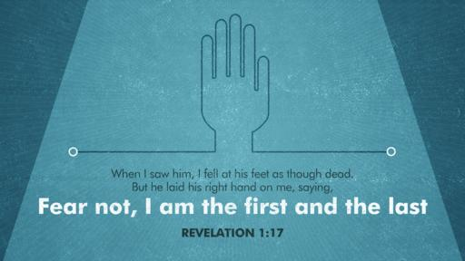 Revelation 1:17 verse of the day image