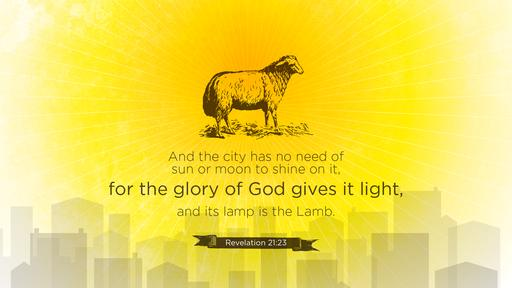 Revelation 21:23 verse of the day image