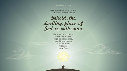 Revelation 21:3 verse of the day image
