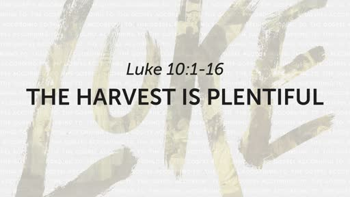 9/8/2019 The Harvest Is Plentiful