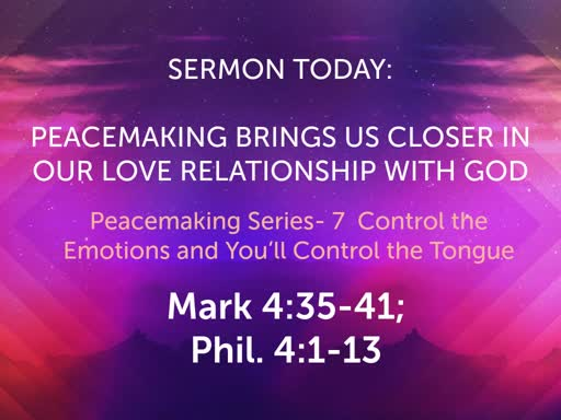 September Sunday Worship- Peacemaking Series