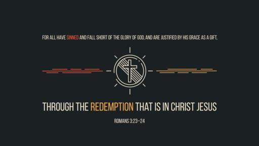 Romans 3:23–24 verse of the day image