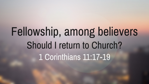 Fellowship, among believers